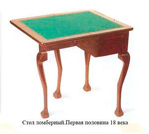 Стол ломберный 18 век