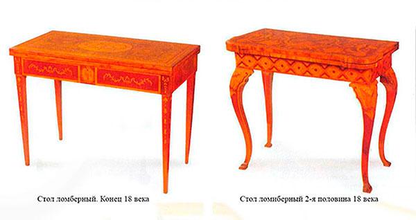 Столы ломберные.Европа,18 век.