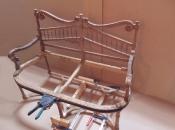 Реставрация антикварного дивана конца 19 века