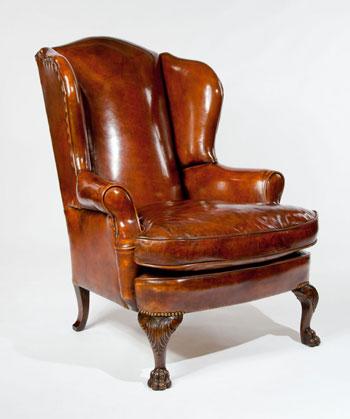 перетяжка антикварного кресла 19 века