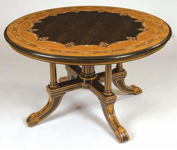 антикварный круглый стол (Англия 1831год)