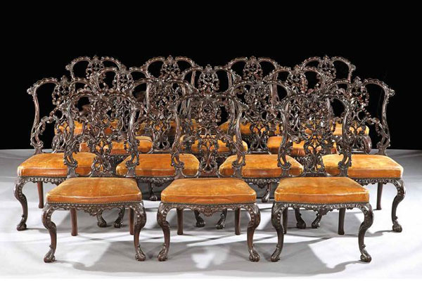 стулья в стиле Чиппендейл