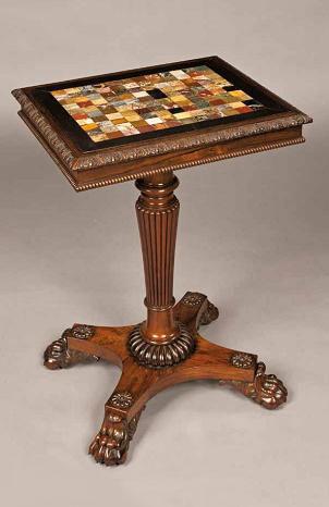 антикварный игральный столик